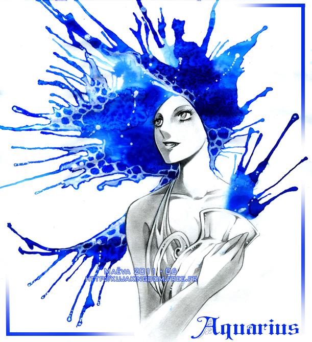 Tags: Anime, Maevachan, Zodiac (Personification), Aquarius, deviantART, Traditional Media, Zodiac, Original, Watercolor