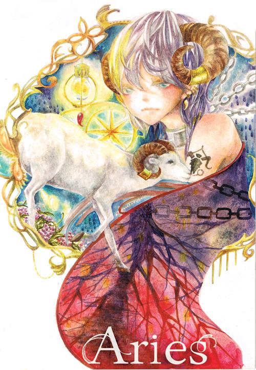 Tags: Anime, C P .Ieng, Zodiac (Personification), Aries, Zodiac, Mobile Wallpaper