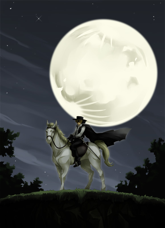 Tags: Anime, K-mame, Kaiketsu Zorro, Diego De La Vega, Viento (Kaiketsu Zorro), Zorro, Pixiv, Fanart