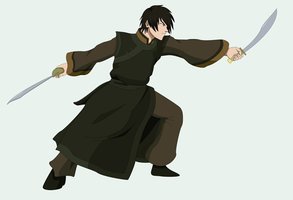 Tags: Anime, Avatar: The Last Airbender, Zuko, Dual Wield, Green Outfit, Dual Swords