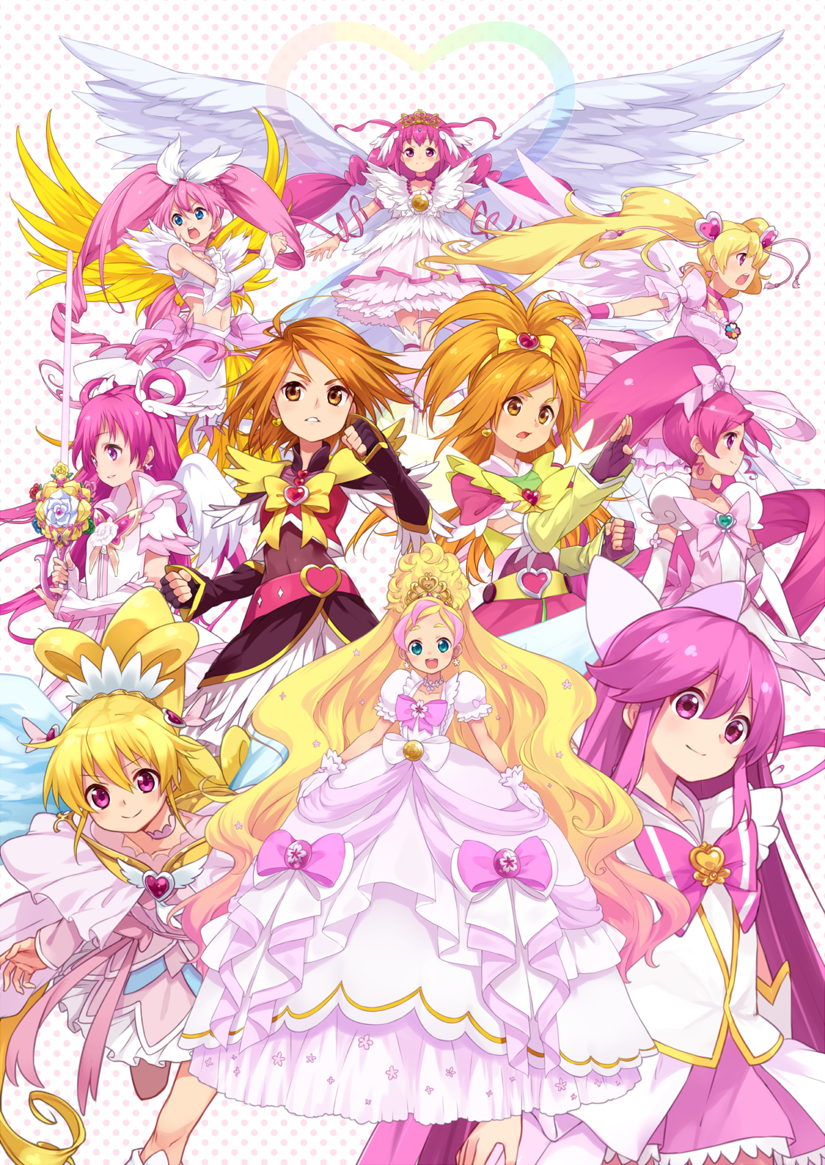 Smile Precure Characters Cross Over Full