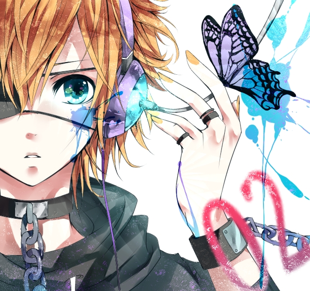 Tags: Anime, Fanart, Vocaloid, Kagamine Len, Piapro Illustrated