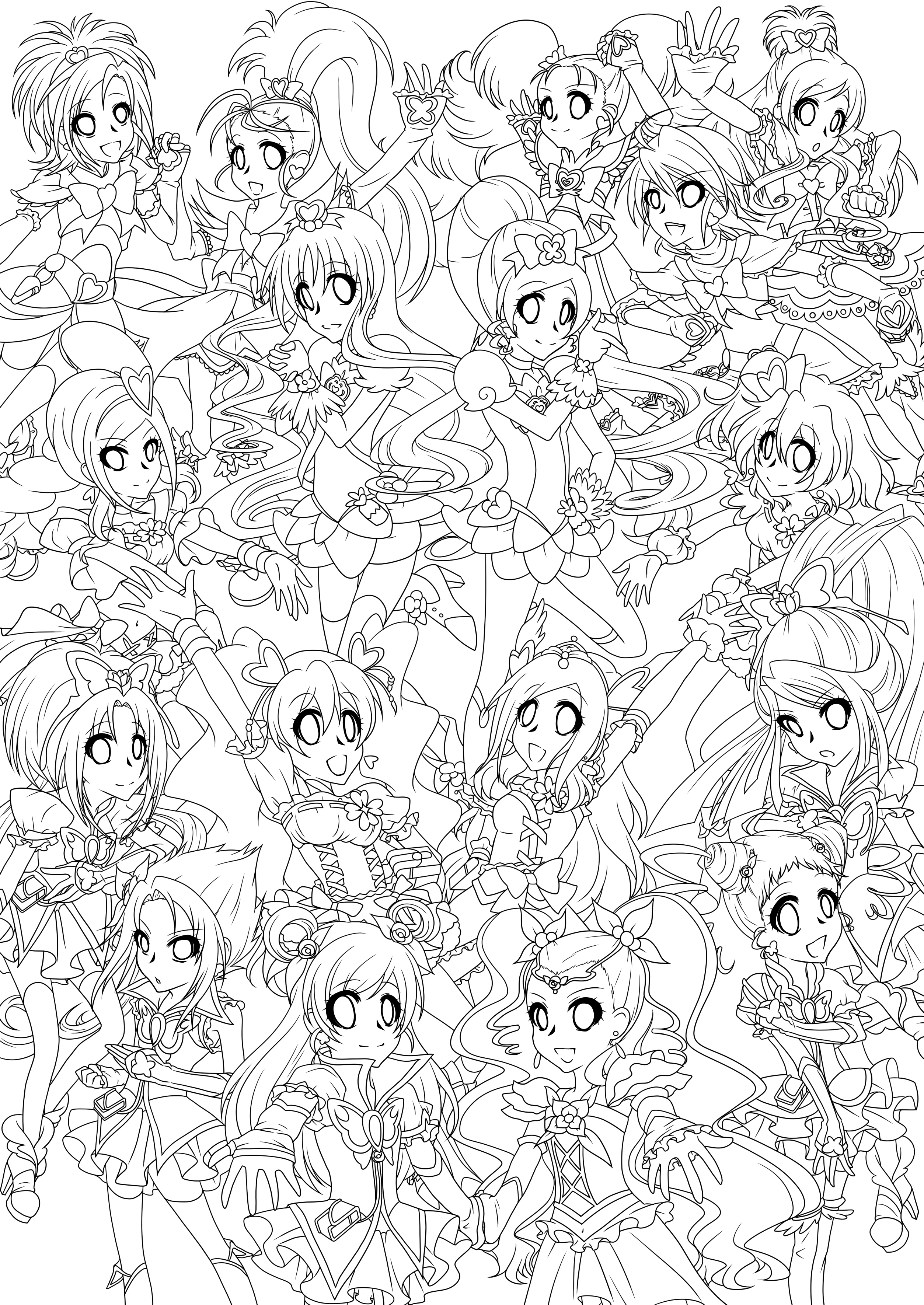 pretty cure coloring pages - yes pretty cure 5 colouring pages page