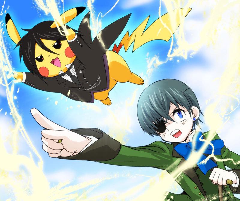 Tags: Kuroshitsuji, Pokémon, Sebastian Michaelis, Ciel Phantomhive, Pikachu