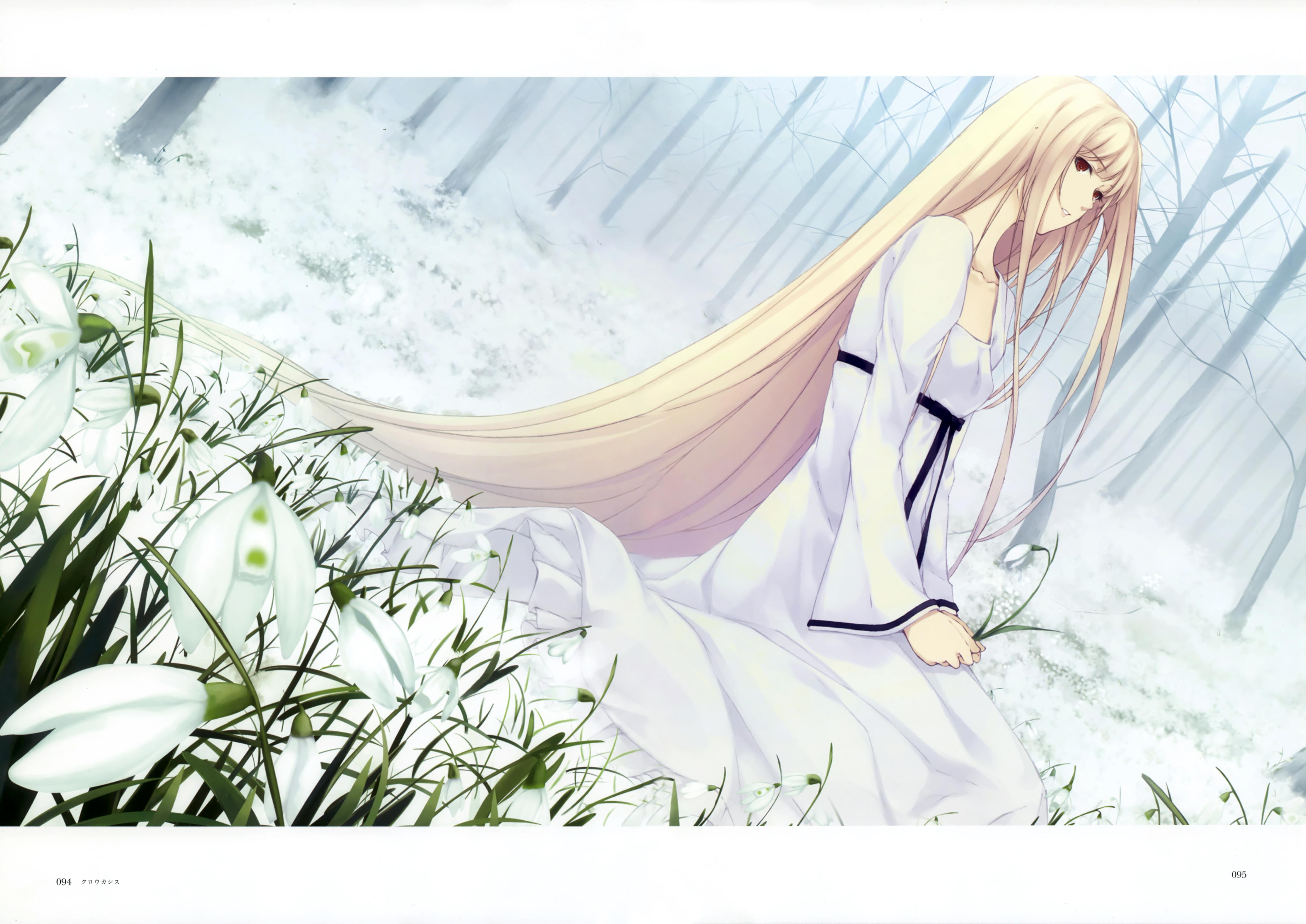 Обои и фото аниме девушки с белыми