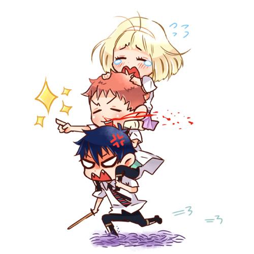 Tags: Anime, Fanart, Pixiv, Ao No Exorcist, Okumura Rin