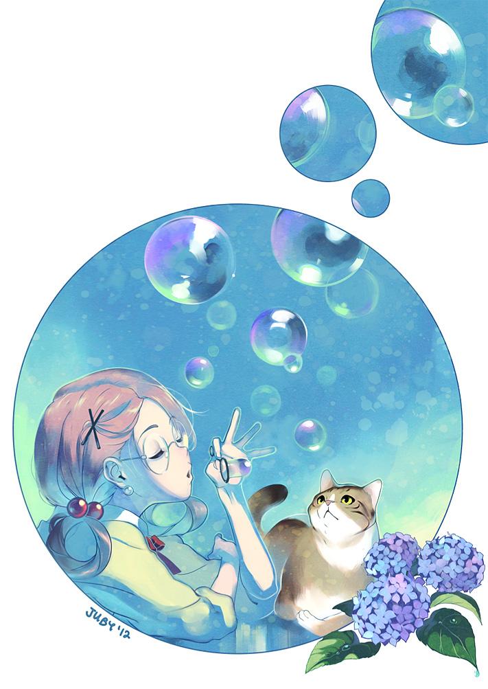 Картинки аниме мыльные пузыри