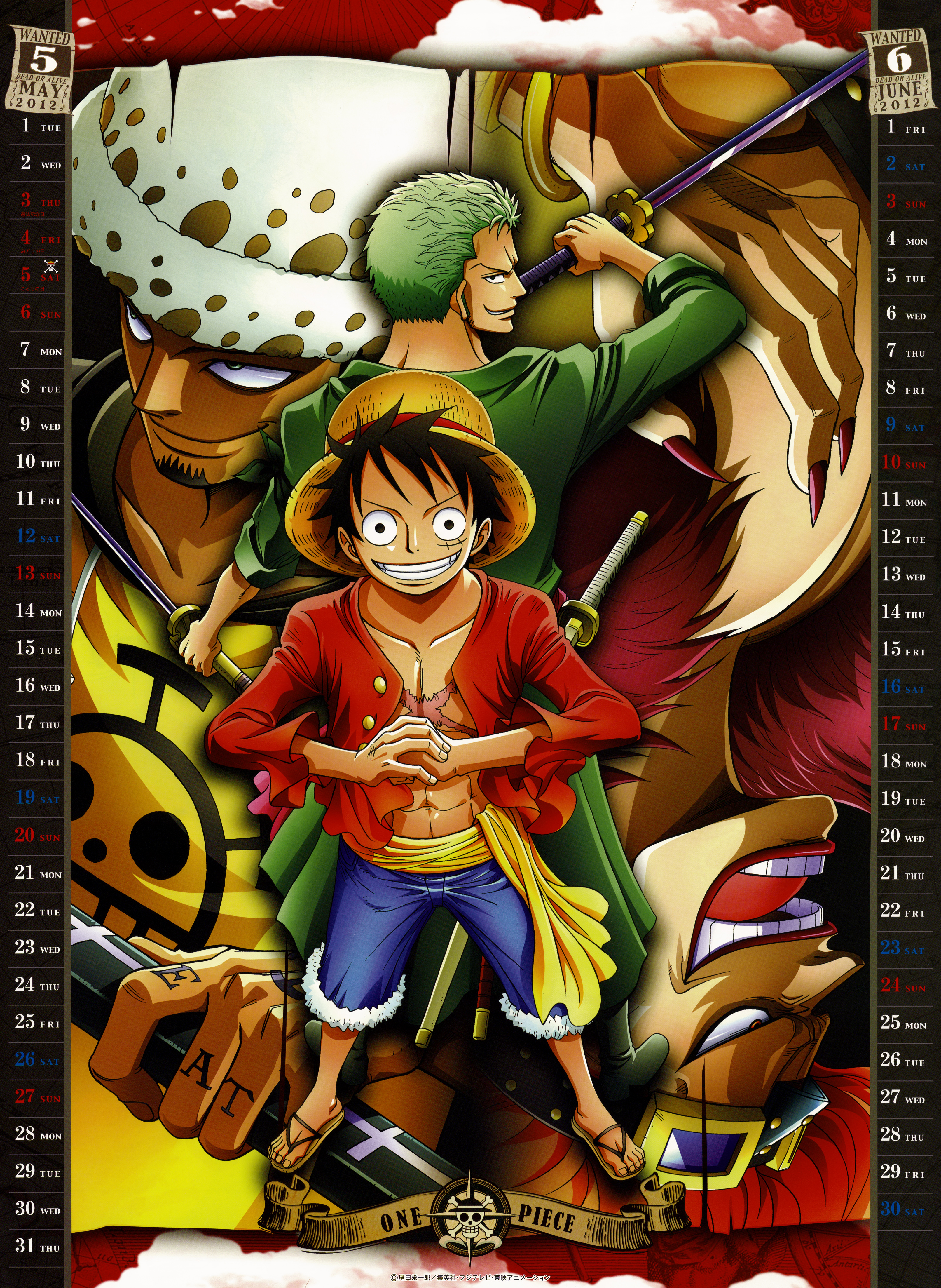 Calendar Art Piece : One piece image  zerochan anime board