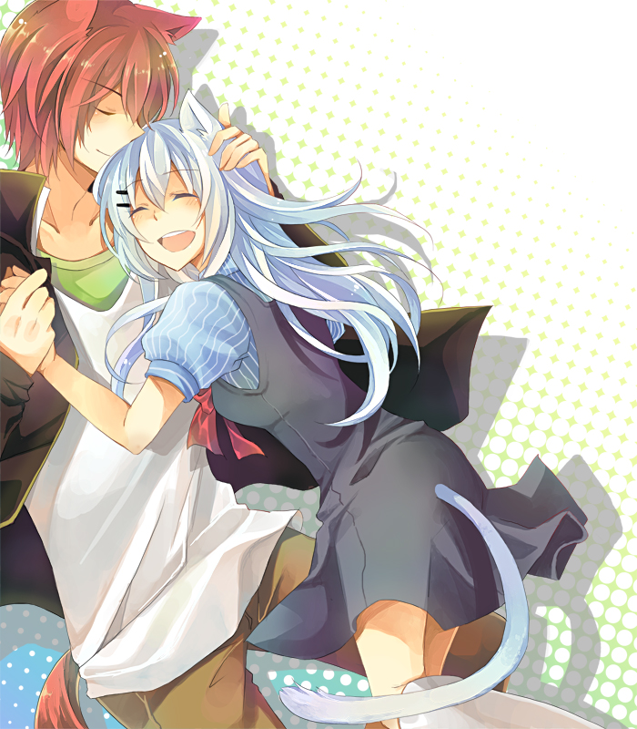 Картинки аниме неко девушка и парень