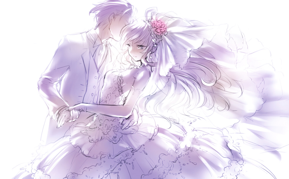 Wedding Wedding Dress Page 10 Zerochan Anime Image Board - Anime Wedding Dress
