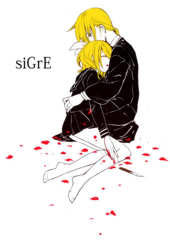Tags: Anime, Menou Kururu, VOCALOID, Kagamine Rin, Kagamine Len, Colored Eyelashes, siGrE, Pixiv, Mobile Wallpaper